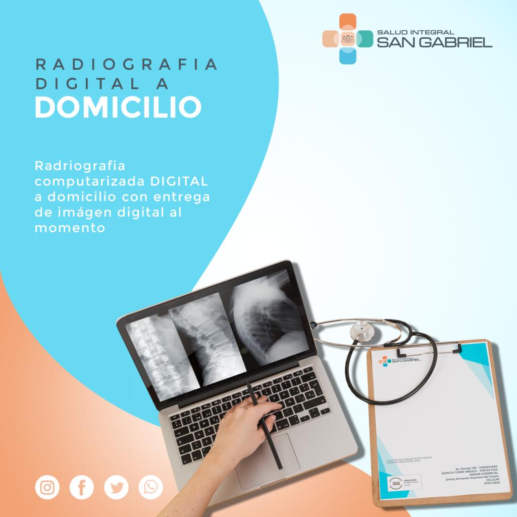 Radiografia digital a domicilio
